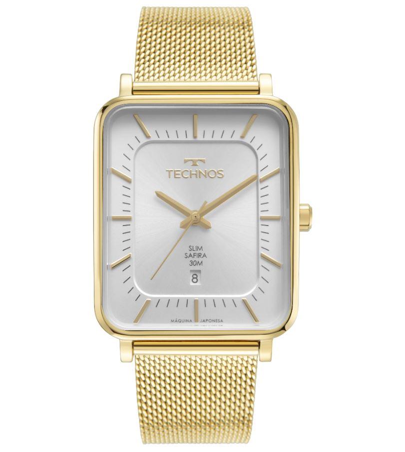 Relógio Masculino Technos Slim Dourado GM10YR/1K