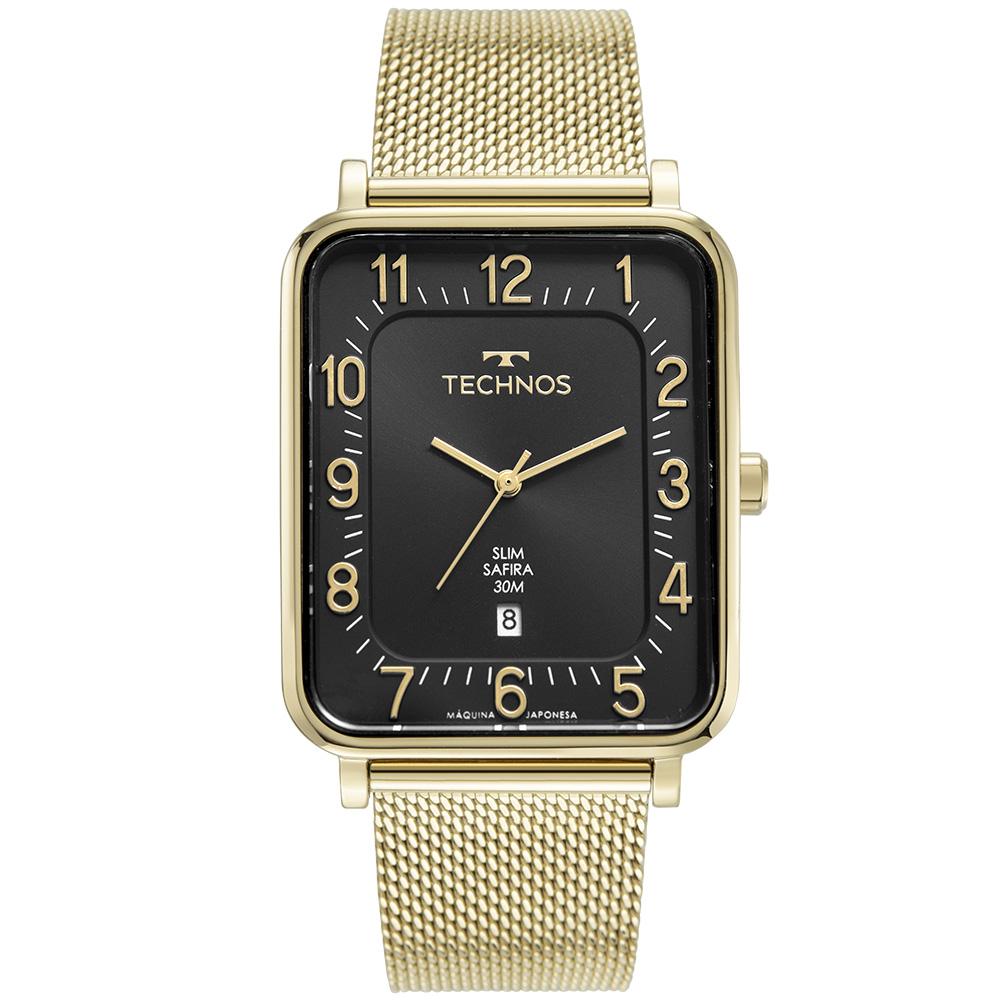 Relógio Masculino Technos Slim Dourado GM10YR/1P