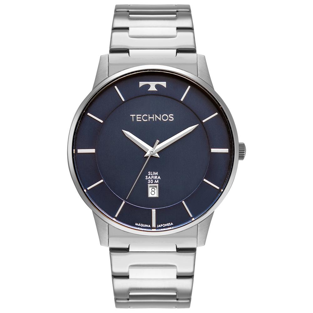 Relógio Masculino Technos Slim Prata GM10YQ/1A