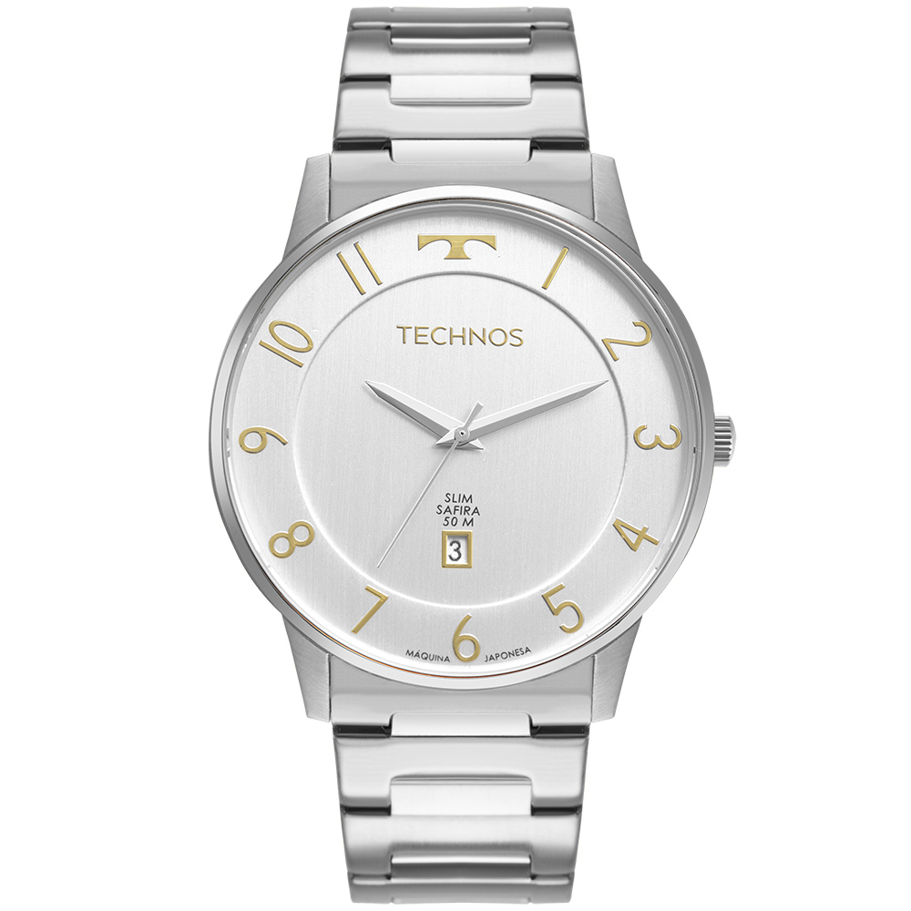 Relógio Masculino Technos Slim Prata GM10YQ/1B