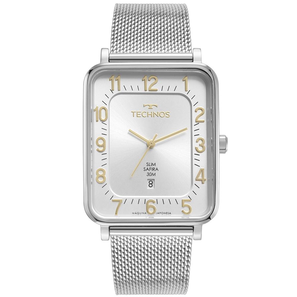 Relógio Masculino Technos Slim Prata GM10YS/1B