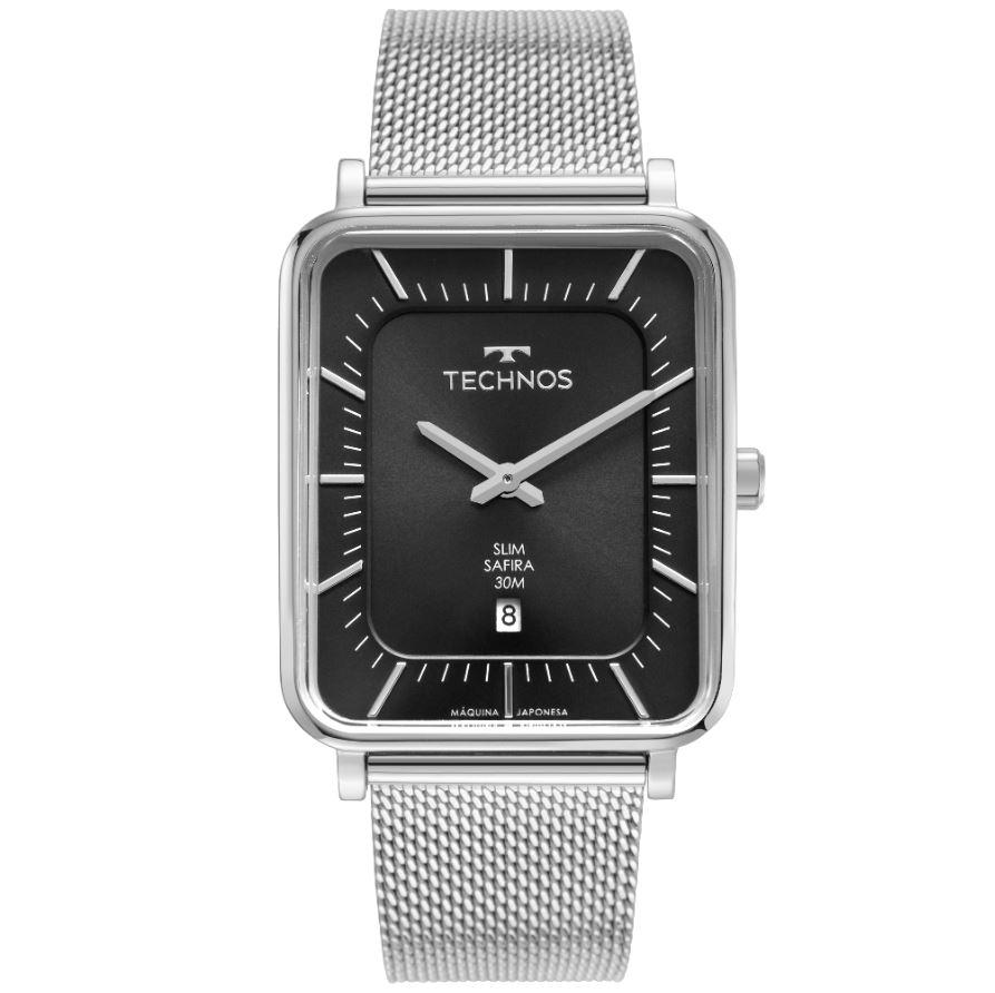 Relógio Masculino Technos Slim Prata GM10YS/1P
