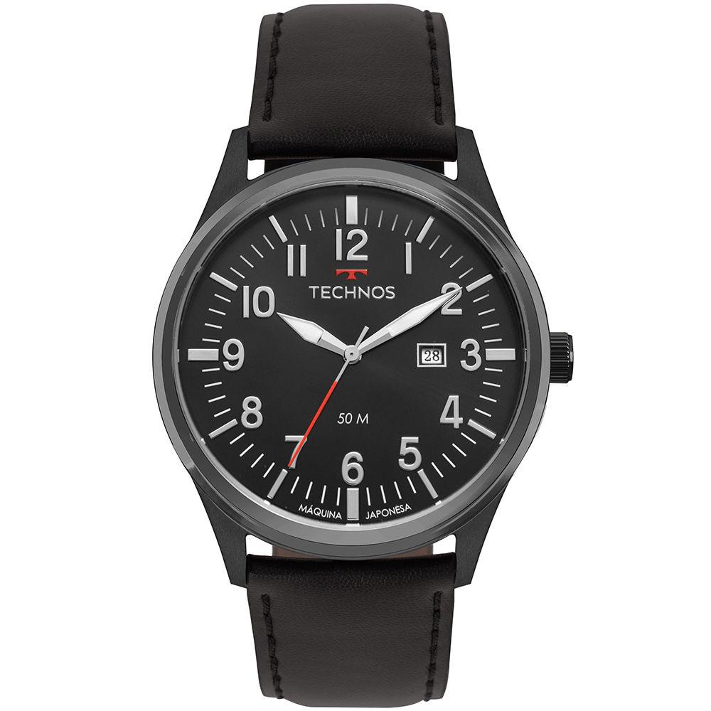 Relógio Masculino Technos Steel Couro 2115MTC/2P