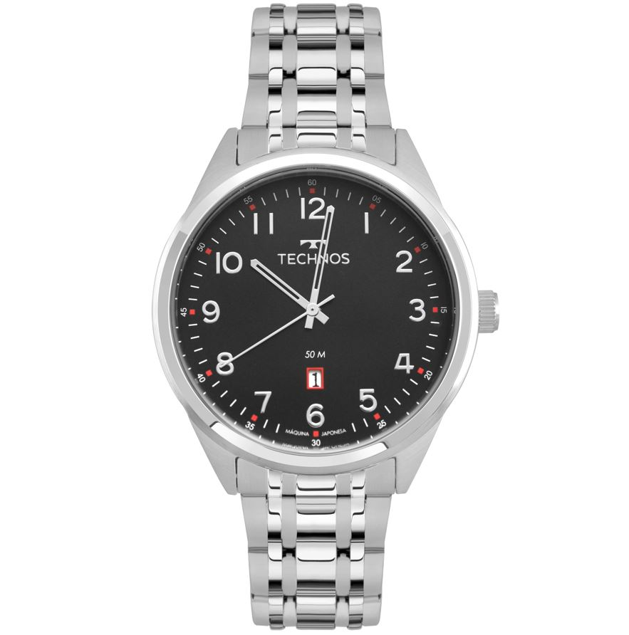 Relógio Masculino Technos Steel Prata 2115MSA/1P