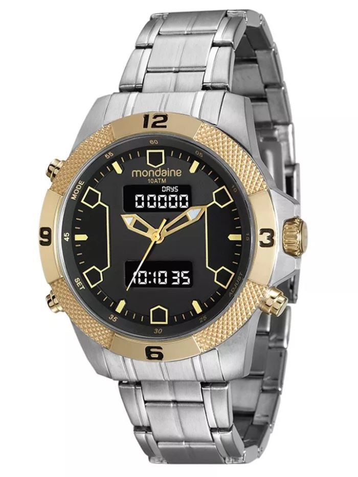 Relógio Mondaine Masculino Ana-Digi 99103GPMVBA1