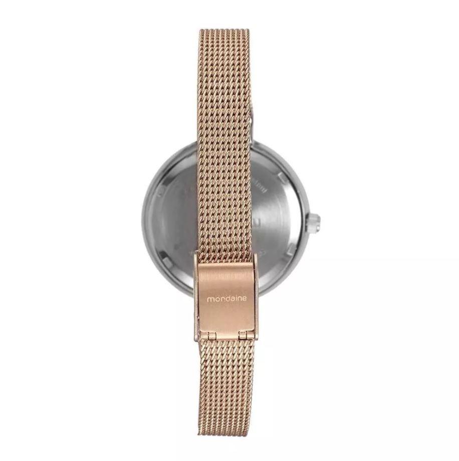 Relógio Mondaine Romance Feminino Rosé /Prata 76597LPMVGE4