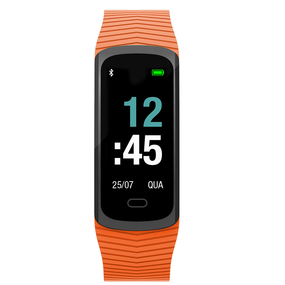 Relógio Mormaii Smart Fit GPS Pulseira Esportiva Laranja MOB3AA/8L