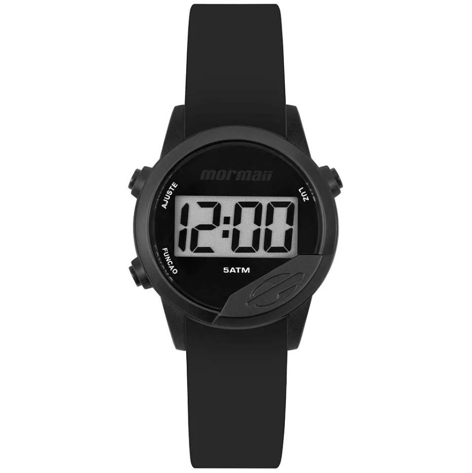 Relógio Mormaii Troca pulseiras Mude Preto Unissex MO4100AA/8P