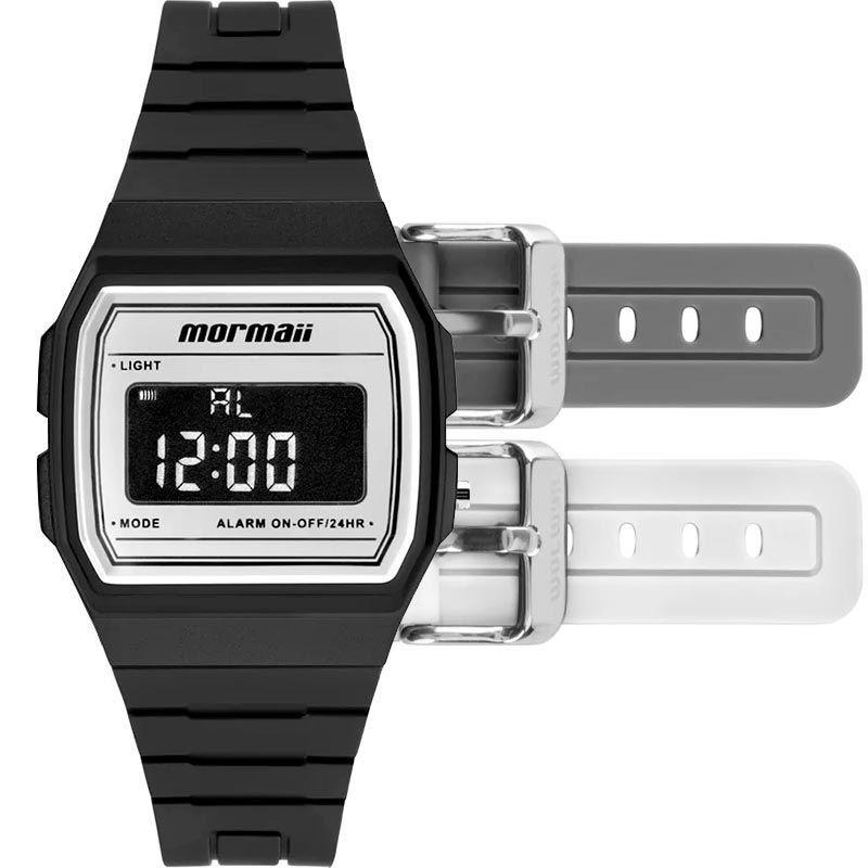 Relógio Mormaii Vintage Troca Pulseiras Unissex MOJH02AM/4B