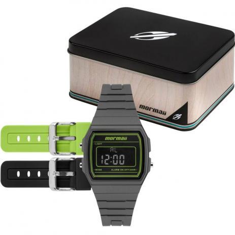 Relógio Mormaii Vintage Troca Pulseiras Unissex MOJH02AP/T8V
