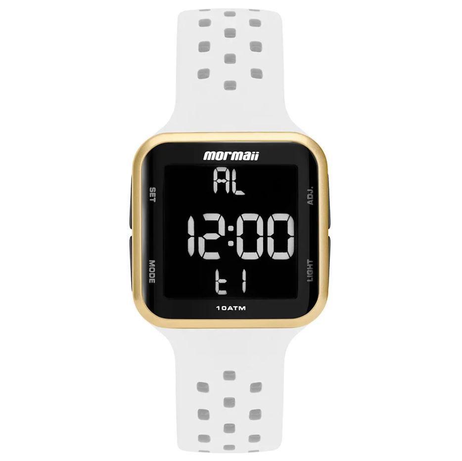 Relógio Mormaii Wave Branco / Dourado Unissex MO6600AD/8B