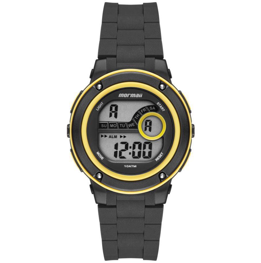 Relógio Mormaii Wave Preto / Amarelo MO8740AA/8Y