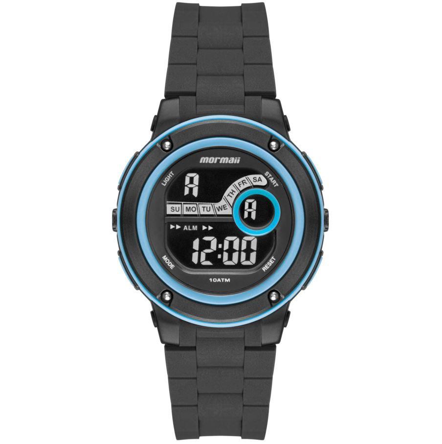Relógio Mormaii Wave Preto / azul MO8740AB/8A