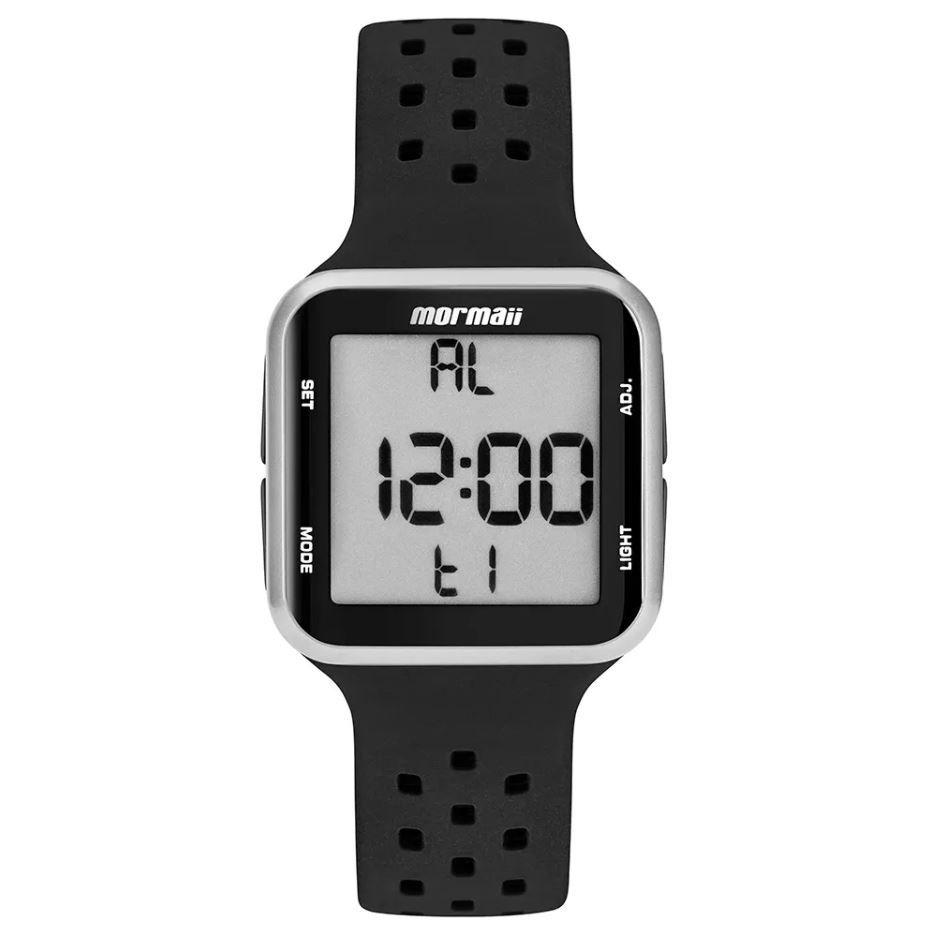 Relógio Mormaii Wave Preto / Prata Unissex MO6600AA/8K