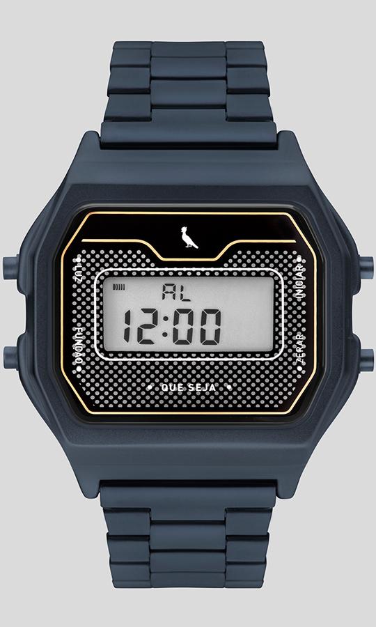 Relógio Masculino Reserva Digital Basic Azul REBJ3715AC/4A