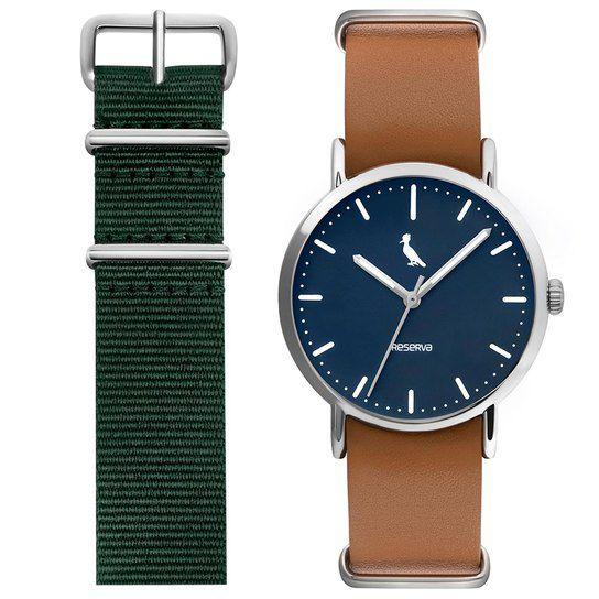 Relógio Reserva Troca Pulseiras Marrom / Verde RE2035AB/2M
