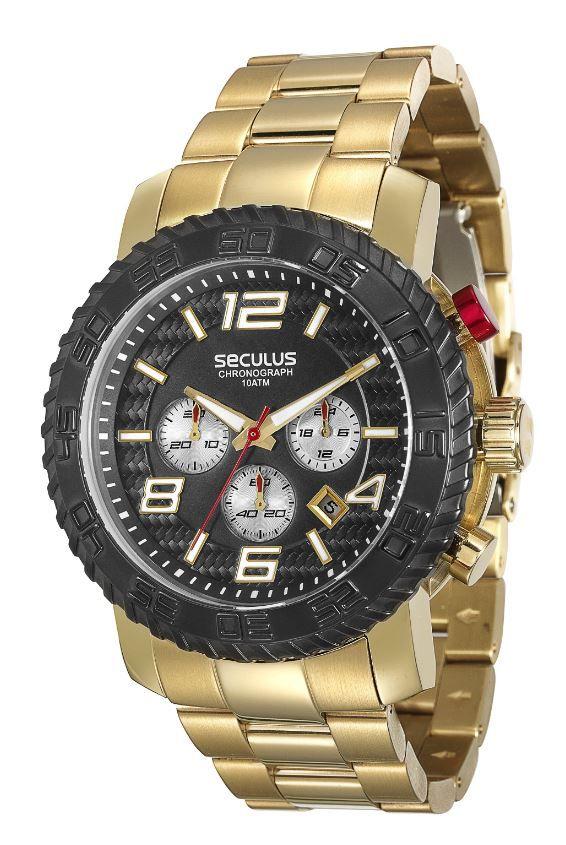 Relógio Seculus Chronograph Masculino 28674GPSVDA1