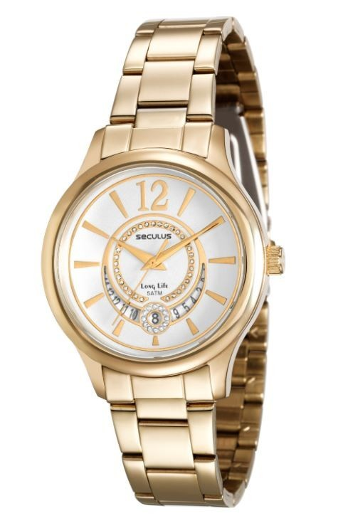 Relógio Seculus Feminino Long Life 23484LPSVDA1