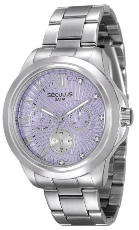 Relógio Seculus Feminino Multi Função 28829L0SVNS3