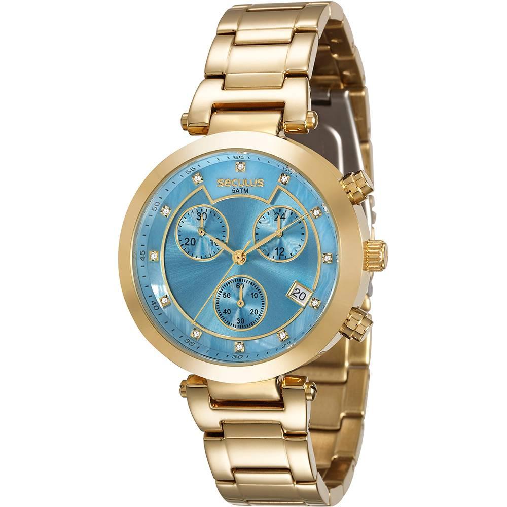 Relógio Seculus Feminino Cronográfico 20377LPSVDS2