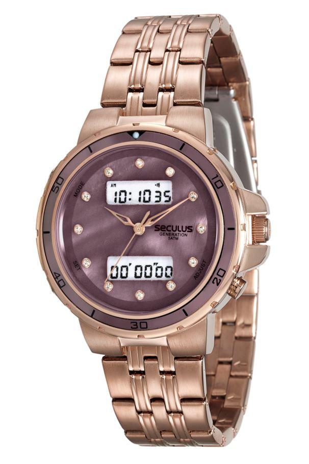 Relógio Seculus Feminino Rosê Anadigi 20532LPSVRA2
