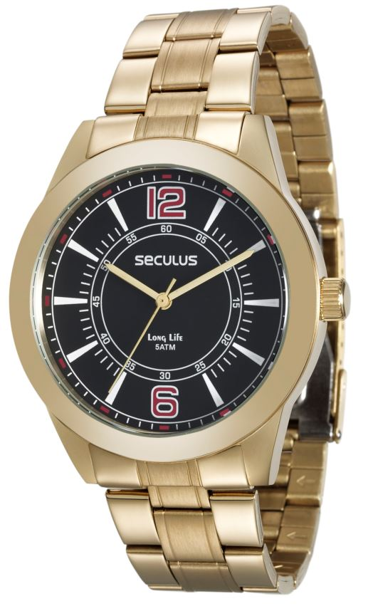Relógio Seculus Masculino 28864GPSVDA3