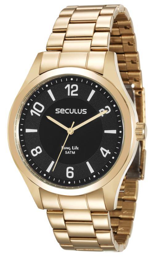 Relógio Seculus Masculino 28884GPSVDA2