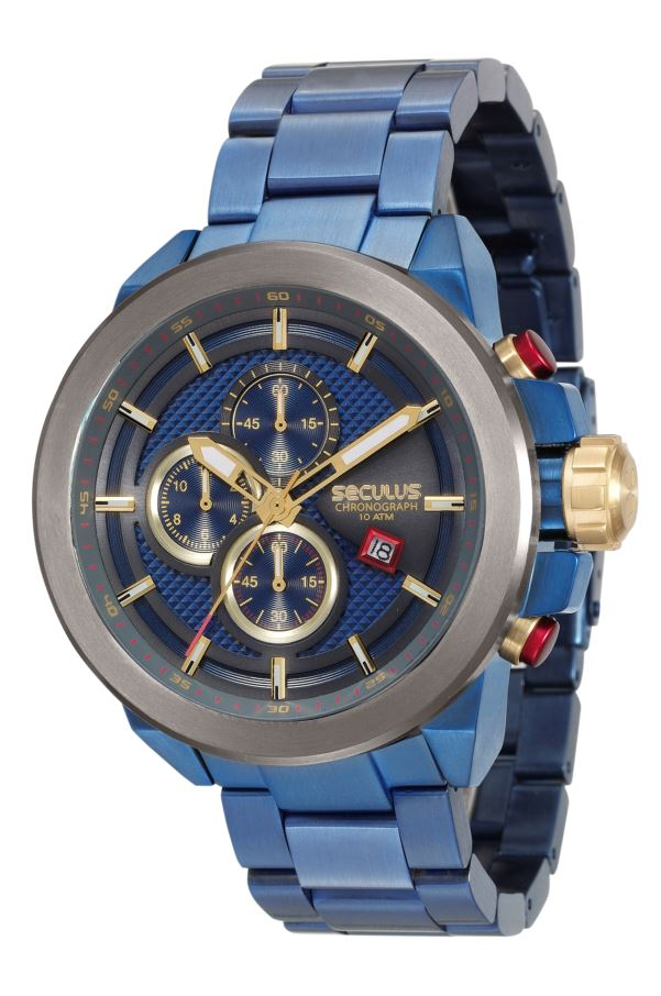 Relógio Seculus Masculino Chronograph 13020GPSVQA1
