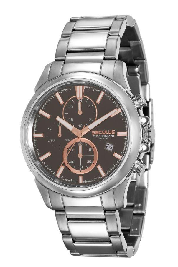 Relógio Seculus Masculino Chronograph 13023G0SVNA3