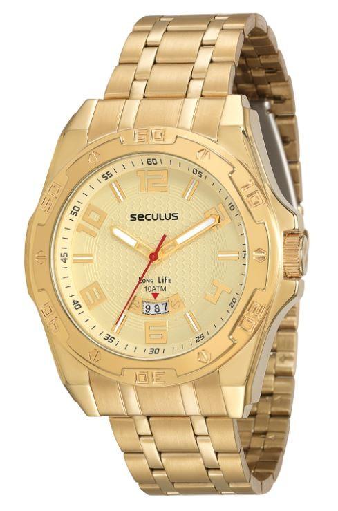 Relógio Seculus Masculino Long Life 23510GPSVDA1