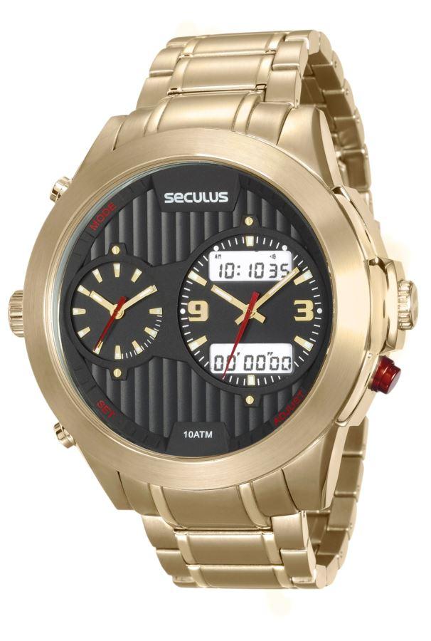 Relógio Seculus Masculino Prime Anadigi 20524GPSVDA2