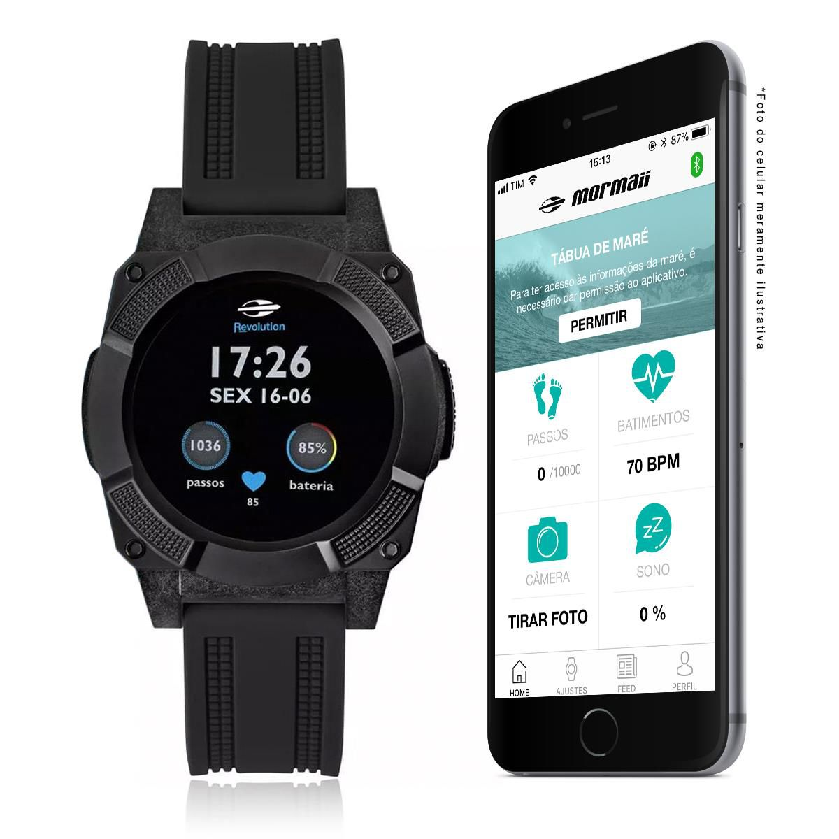 08eeb63e4f9 Relógio Smartwatch Revolution Mormaii Masculino MOSRAB 8P - Relógios ...