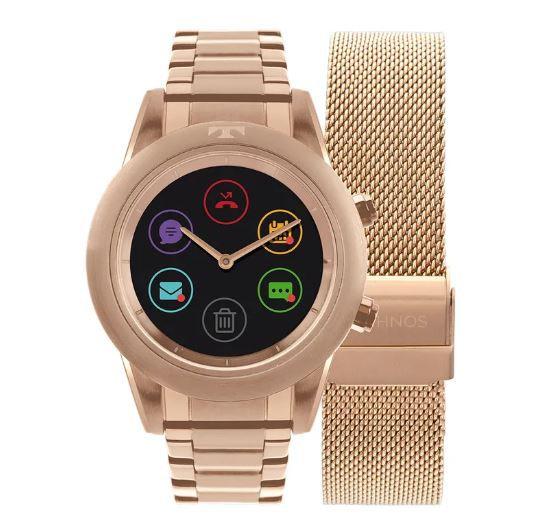 Relógio Smartwatch Technos Connect Duo Rose Feminino P01AE 4P ... 7f86c04014