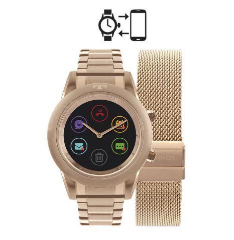 427c86a01dd3e ... Relógio Smartwatch Technos Connect Duo Rose Feminino P01AE 4P ...