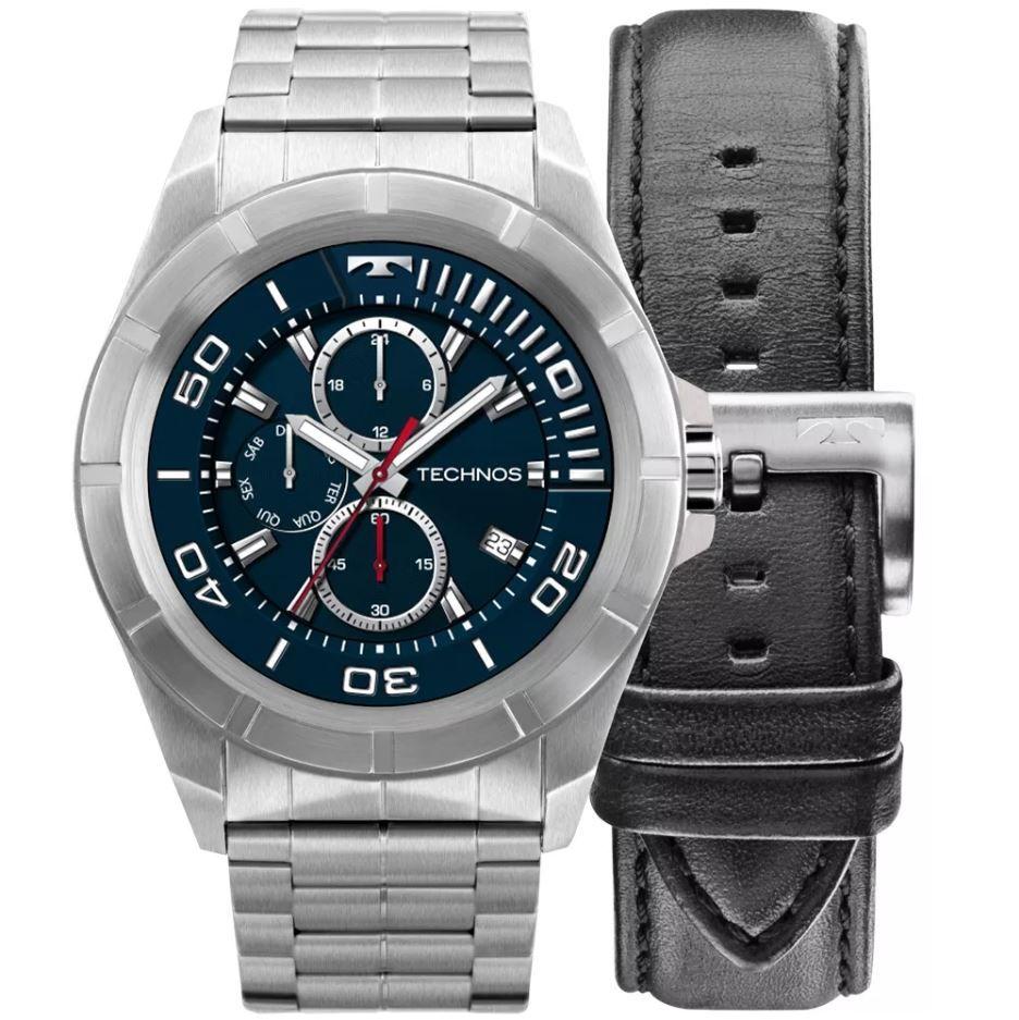 Relógio Smartwatch Technos Connect Full Display 3.0 Prata Masculino SRAA/1P
