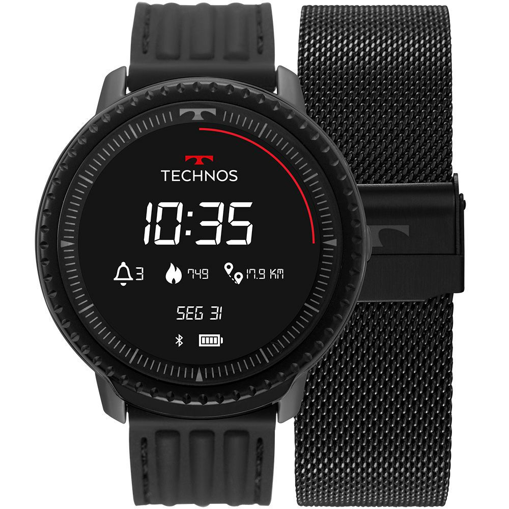 Relógio Smartwatch Technos Connect ID Preto Unissex L5AA/1P