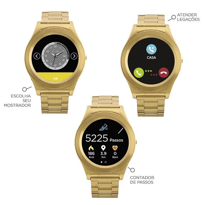 5fb01985eea Relógio Smartwatch Technos Connect Unissex SRAE 4P - Relógios de Fábrica