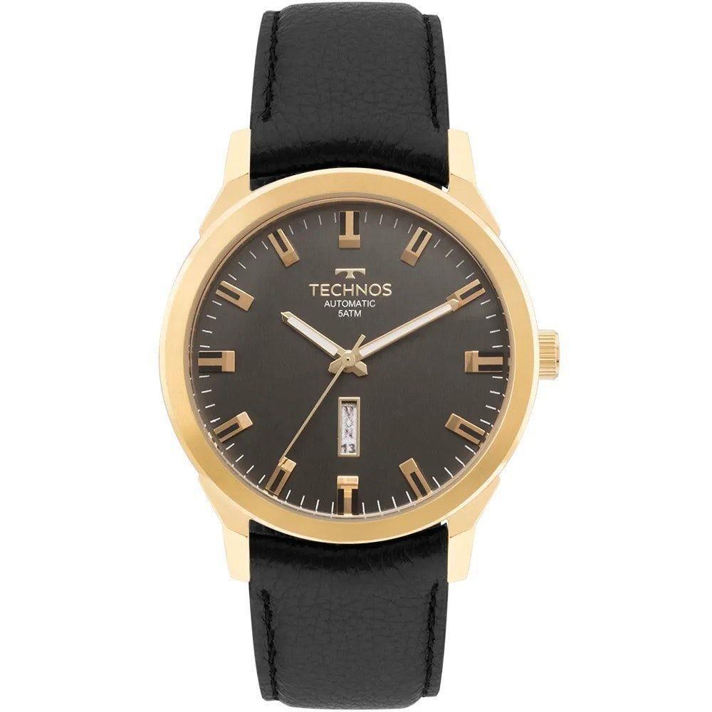 Relógio Technos Classic Automatico Couro Masculino 8205OG/2P