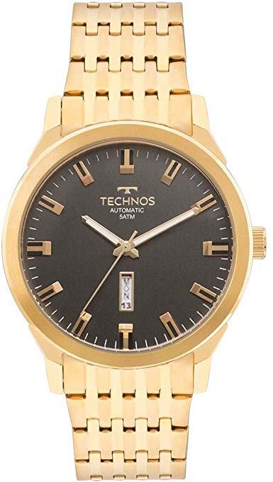 Relógio Technos Classic Automático Dourado Masculino 8205OF/4P