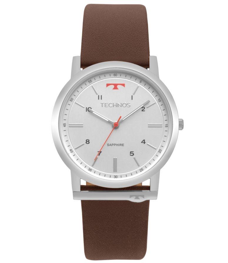 Relógio Technos Classic Slim Couro GL30FO/1B