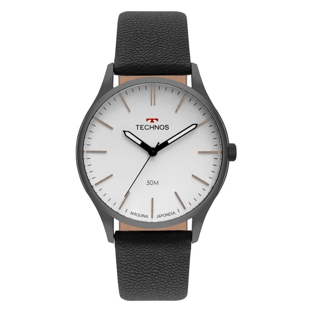 Relógio Technos Classic Steel Couro Masculino 2035MQQ/2B