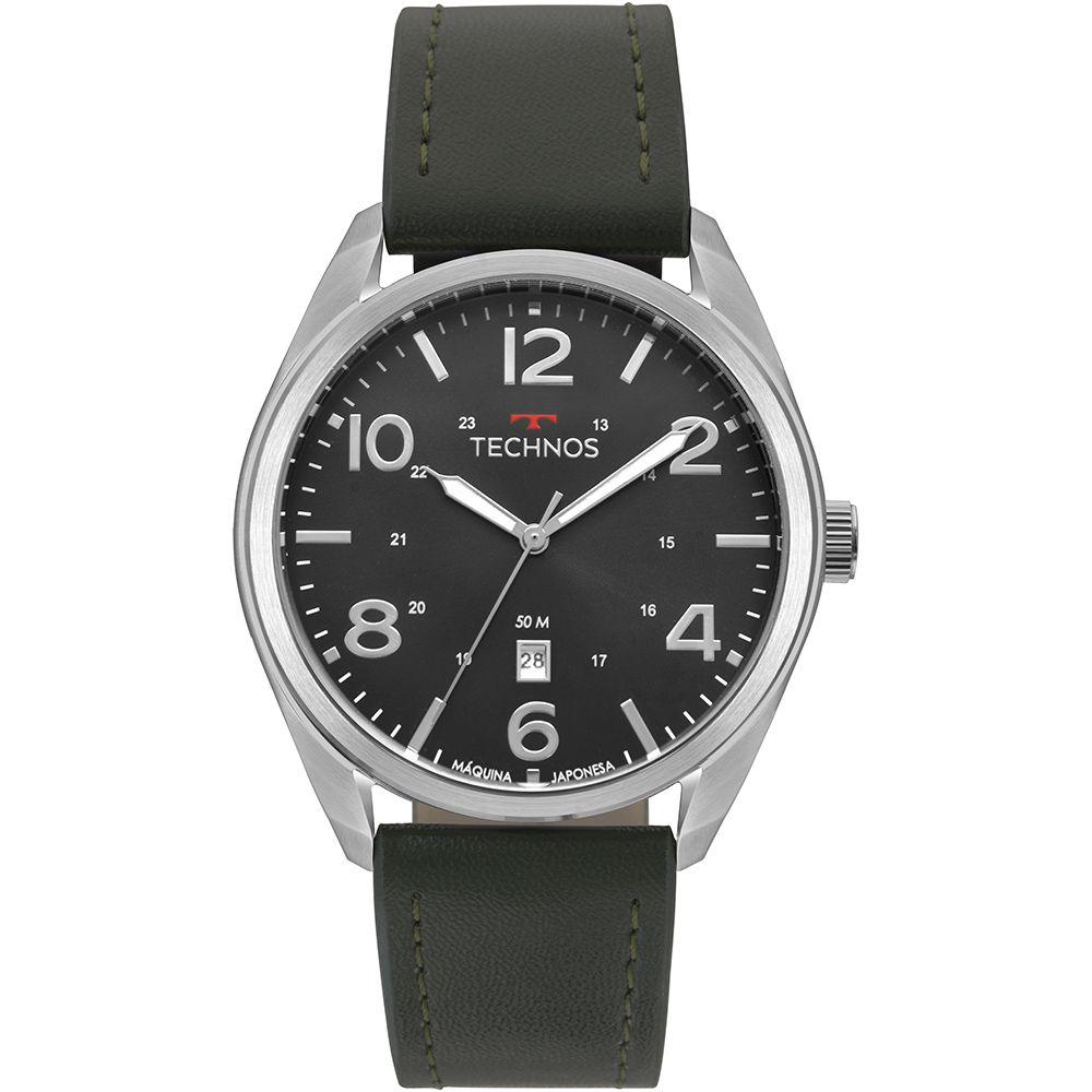 Relógio Technos Classic Steel Couro Masculino 2115MSZ/0P