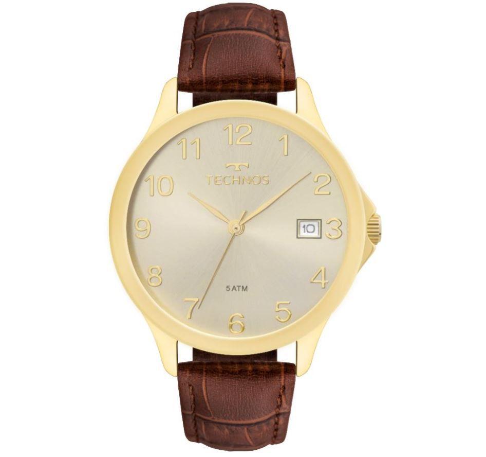 Relógio Technos Classic Steel Couro Unissex 1S13CL/2X