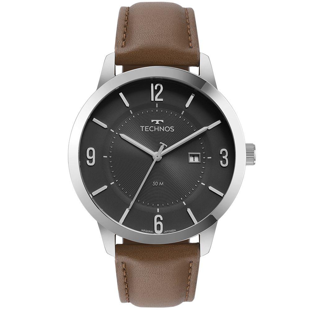 Relógio Technos Couro Masculino 2117LCQ/0P