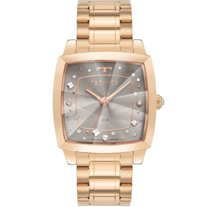 Relógio Feminino Technos Crystal Swarovski Rosé 2036MNF/1C