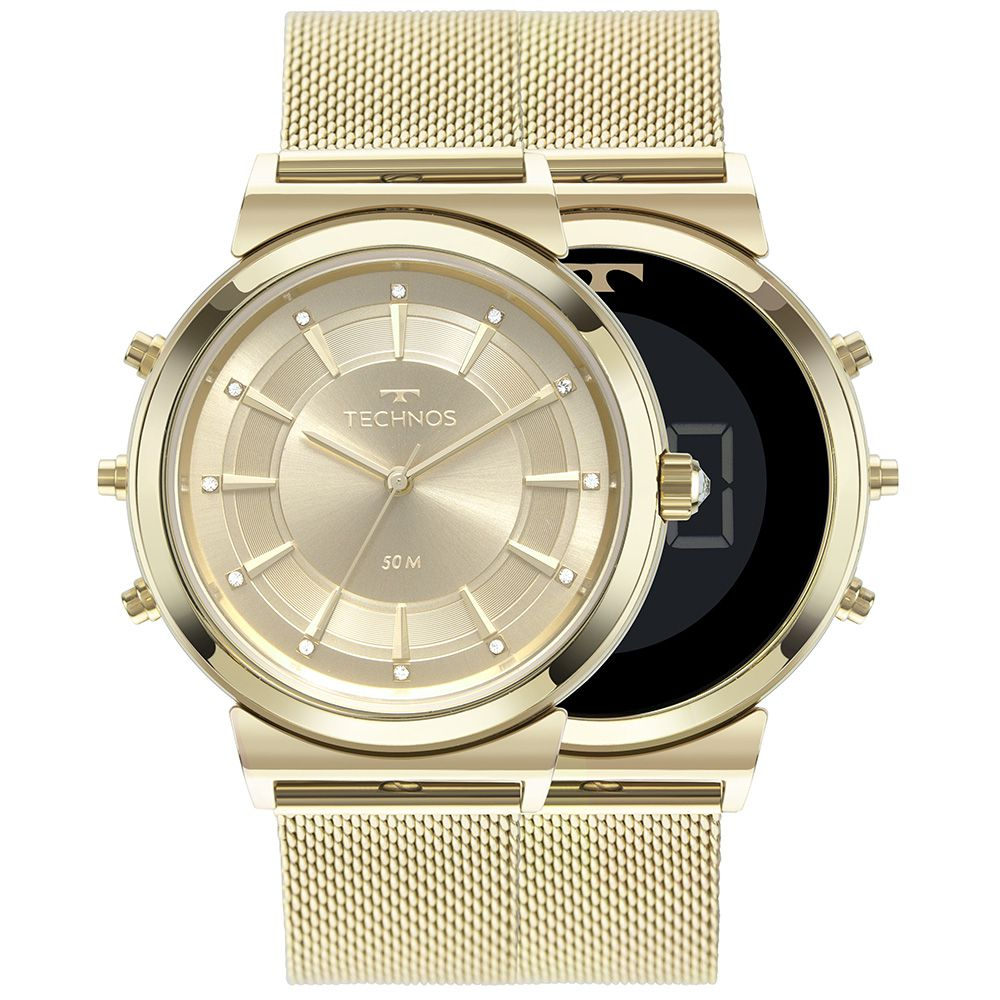Relógio Technos Curvas Digital e Analógico Feminino 9T33AA/4X