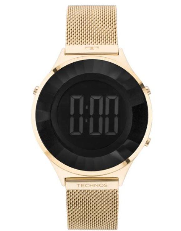 Relógio Technos Digital Crystal Dourado Feminino BJ3851AD/4P