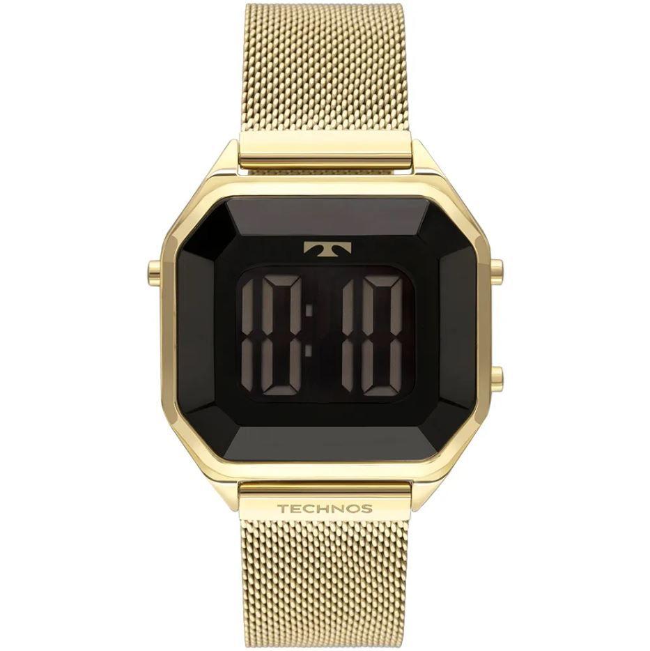 Relógio Technos Digital Crystal Dourado Feminino BJ3851AJ/4P