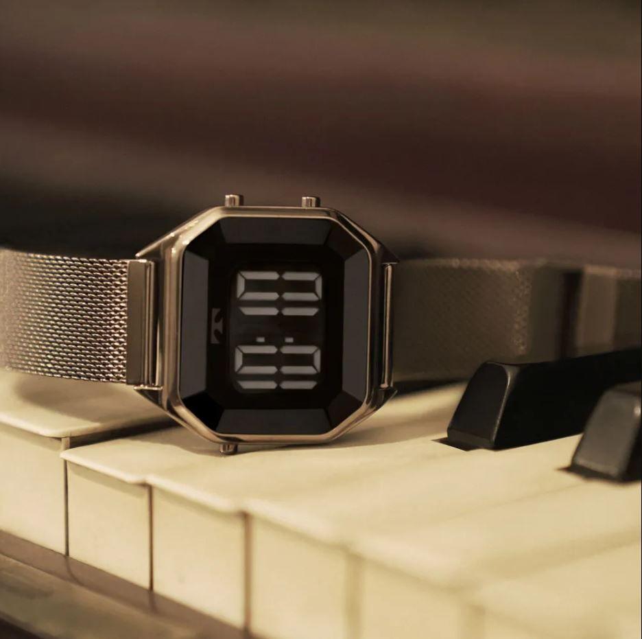 Relógio Technos Digital Crystal Marrom Feminino BJ3851AL/4P