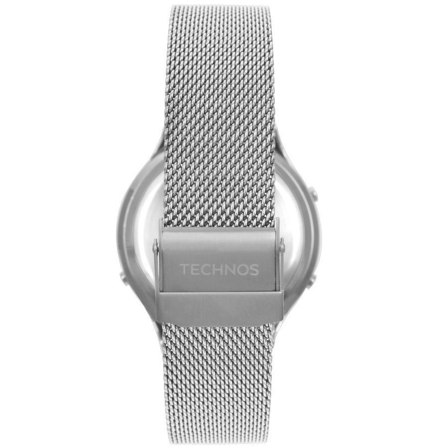 Relógio Technos Digital Crystal Prata Feminino BJ3851AG/1P